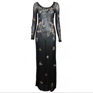 VIVIENNE TAM Black Sheer Dress Size S